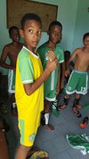 Les U13 dans les vestiaires après leur victoire de ce week-end - ASCAL LA FREGATE