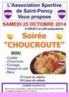 Affiche Choucroute - Association Sportive de Saint-Poncy