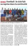 Le Progrès 24 août 2015 : Reprise des séniors - Jeunesse Athlétique d'Heyrieux