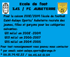 Ecole de foot SAS - AUBETERRE - SAINT-AULAYE SPORTS