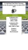 Recrutement U 15 et U 18 pour la saison prochaine - SPORTING CLUB DE PETIT-COURONNE