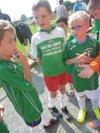 Dimanche 14 Septembre: Les petits verts accompagnant l'équipe A. - Association Sportive de Saint Pierre des Nids