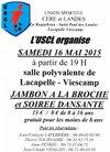 A LACAPELLE  JAMBON A LA BROCHE le 16 mai sur RESERVATION - USCere et Landes
