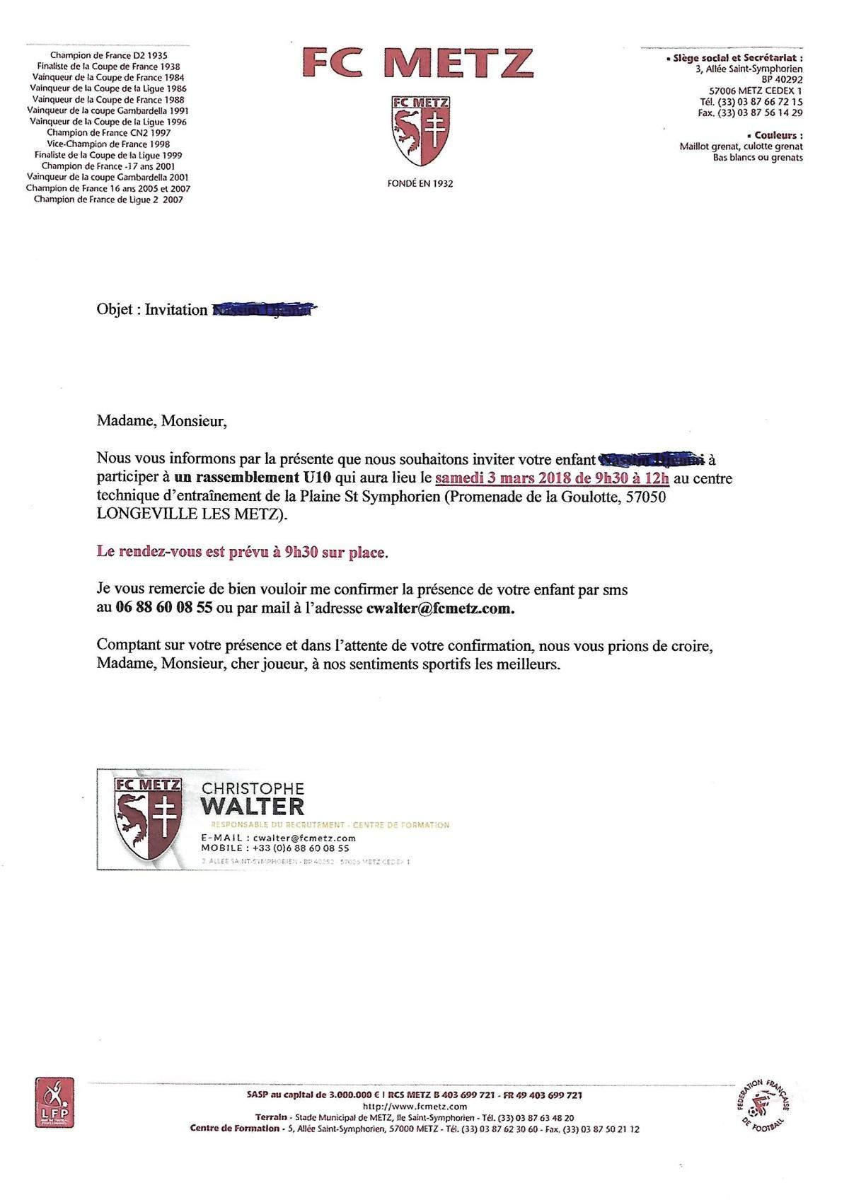 Actualité   Les journées de stage à Metz et Nancy   club