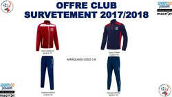 Boutique club saison 2017/2018 - AGSE FOOTBALL - LES ESSARTS LE ROI