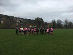 Victoire contre St Julien Bas (District 3) sur le score de 4 à 1 en coupe Règis Fay. Une minute de silence en mémoire du 13/11/2016... - Aiguilhe
