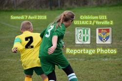 U11AJC 2 / FC Yerville 2 : 3-4 (le 07/04/2018) - AMICALE JOSEPH CAULLE BOSC LE HARD