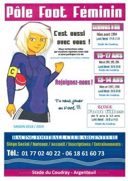 section feminine - ARGENTEUIL FILLE RFC