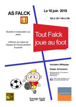 Affiche tout Falck joue au foot - ASSOCIATION SPORTIVE FALCK