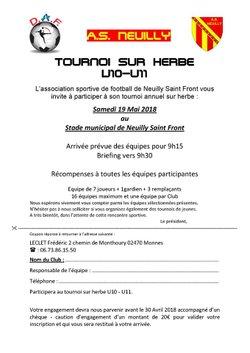 Tournoi sur Herbe U10 - U11
