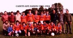 SAISON 1983-1984: CADETS AST - AMICALE SPORTIVE TREMEVENOISE