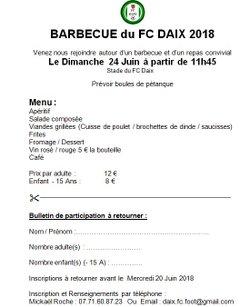 Barbecue du FC Daix 2018