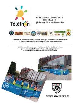 Collaboration entre l'ASGA et le District du Football Féminin des Yvelines / TELETHON 2017 - ASGA GUERVILLE ARNOUVILLE
