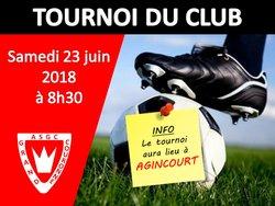 Le tournoi du club aura lieu à AGINCOURT