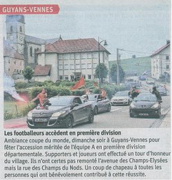 POINT PRESSE !!! - AS GUYANS VENNES