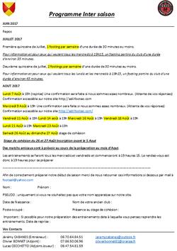 Préparation Saison 2017-2018 - AS LAGARRIGUE LAVITARELLE
