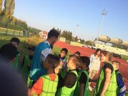 Les U11 ramasseurs de balle pour Romo - Boulogne Billancourt N2 - AS SALBRIS FOOTBALL