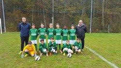 les U13 avec leurs nouveaux  mailllots - Association Sportive de Saint-Viance