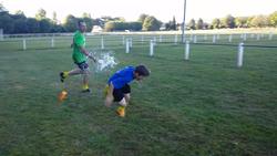 Bataille d'eau U13 après l'entraînement - AS SAINT VIANCE