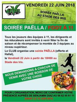 Soirée fin de saison 2017-18 Asvel football...