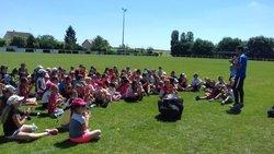 Nous avons clôturé le cycle foot sur le complexe du club de ST AMAND LONGPRE - Avenir St Amand Longpré