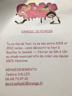 DECOUVERTE    FOOT     FEMININ - F.C.Bazillac