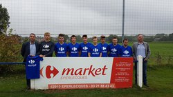 Remise officielle des Maillots U17/U19 CARREFOUR Market Eperlecques