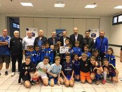 Remise du label qualité école de foot - Cabestany O.C