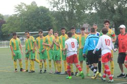 U18 riberac-champcevinel 3-1 buteurs alexis- arnaud(capitaine) et mathieu - CLUB ATHLETIQUE RIBERACOIS