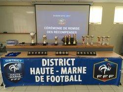 Le CFC récompensé par le District (30 juin 2017) - CHAUMONT FOOTBALL CLUB