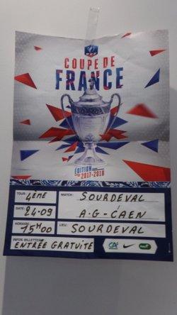 COUPE DE FRANCE 4ièm TOUR CONTRE  A.G. CAEN 24.09.2017 - Club Omnisports Sourdeval section Football