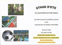 STAGE D'ETE AU CLUB AVEC DIFFÉRENTES  ACTIVITÉS OUVERT AUSSI AU NON LICENCIE DU CLUB - CLUB SPORTIF DE PORT MARLY