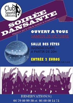 CSG - Soirée dansante - Samedi 20 octobre 2018