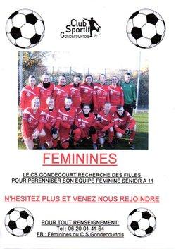 Equipe Feminine Senior à 11 recherche joueuses