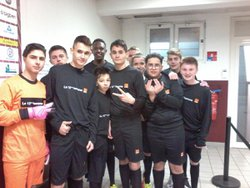 Les U15 au Challenge Orange lors du match FC Metz - Rennes du 05 mars 2017 avec une victoire 5-2 contre Fontoy - Cercle Sportif Stiring - Wendel 1911