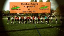 Match de Coupe Argenteuil FC vs Fontenay FC  le 21 Octobre 2017 - FONTENAY EN PARISIS FC - Erwan75.Footeo.com