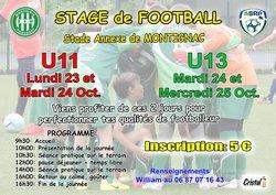 UN STAGE U11 ET U13 POUR LES VACANCES