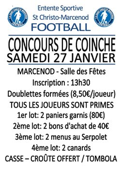 CONCOURS DE COINCHE - Entente Sportive Saint Christo Marcenod Football