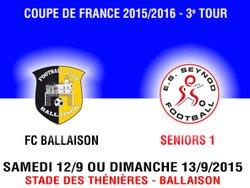 COUPE DE FRANCE SENIOR : FAIRE UN COUP... A BALLAISON