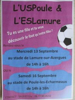 Journée découverte du football féminin