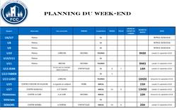 PLANNING DU WEEK-END - football club chirens