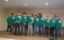 Les U15 et U18 à la remise des survêtements du club le 22/12/2017 - FC Tillé (U14 à U18)