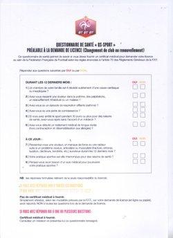 QUESTIONNAIRE DE SANTE - F C LAURENTAIS LANDEMONTAIS