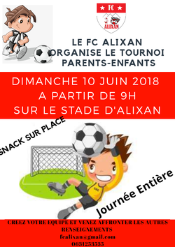TOURNOI PARENTS Enfants - Football Club d'Alixan