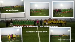 FC Rosendael U18 samedi18 fevrier 2017 - FOOTBALL CLUB DE ROSENDAEL