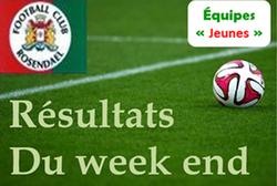 Résultats du 17/02/2018 jeunes - FOOTBALL CLUB DE ROSENDAEL