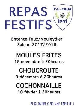 REPAS FESTIFS - FOOTBALL CLUB DE FAUX