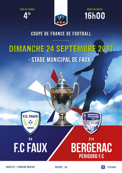 FC FAUX- Bergerac 4e tour de Coupe de France