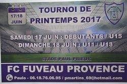 Tournoi FC Fuveau juin 2017 - FOOTBALL CLUB FUVEAU PROVENCE