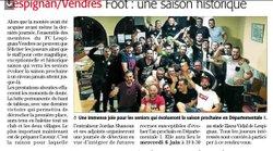 Article du midi libre - FOOTBALL CLUB LESPIGNAN VENDRES